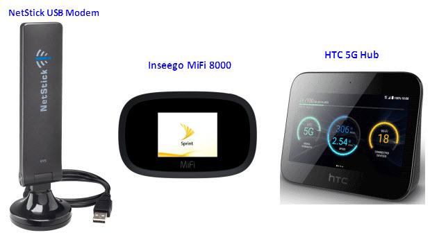 mifi 8000 vs htc 5g hub vs NetStick USB modem