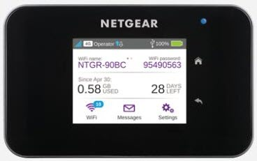 netgear Aicard 810s LCD screen