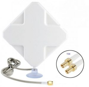 dual connector 4g lte antenna